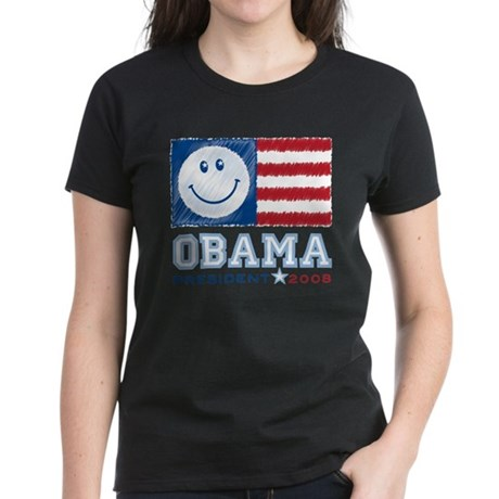 Obama Smiles Women's Dark T-Shirt