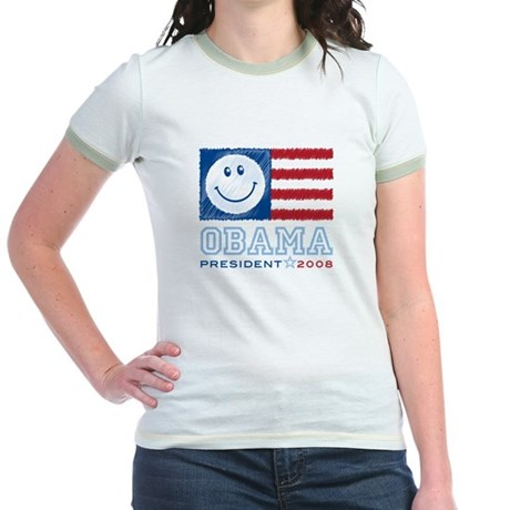 Obama Smiles Jr. Ringer T-Shirt