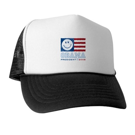 Obama Smiles Trucker Hat