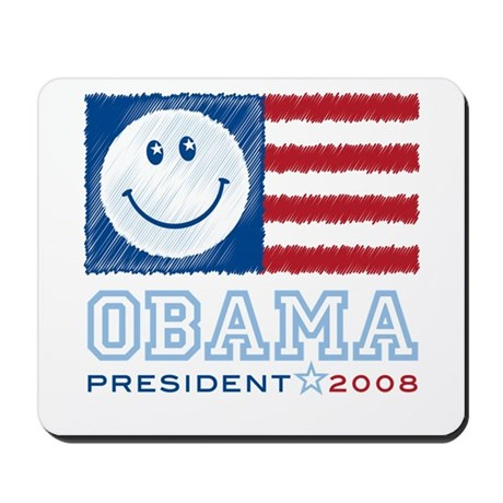 Obama Smiles Mousepad