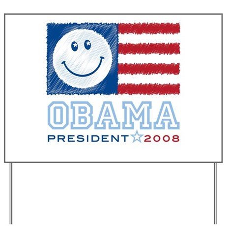 Obama Smiles Yard Sign