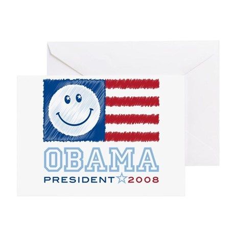 Obama Smiles Greeting Card