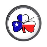 Texas Flag Shamrock Shamrock Wall Clock