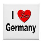 I Love Germany Tile Coaster