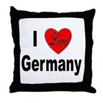I Love Germany Throw Pillow