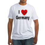 I Love Germany (Front) Fitted T-Shirt