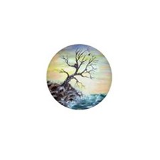 """Coastal Tree"" Mini Button"