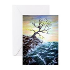 """Coastal Tree"" Greeting Cards (Pk of 10)"