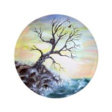 """Coastal Tree"" 3.5"" Button (100 pack)"