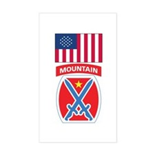 10th Mountain Rectangle Decal