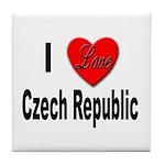 I Love Czech Republic Tile Coaster