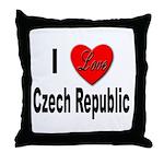 I Love Czech Republic Throw Pillow