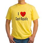 I Love Czech Republic Yellow T-Shirt