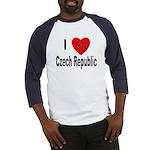 I Love Czech Republic Baseball Jersey