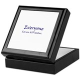 EVERYONE HAS AN HIV STATUS Keepsake Box