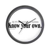 KNOW YOUR OWN Wall Clock