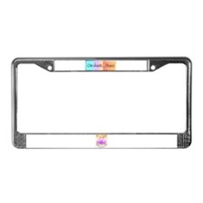 Om Shanti...Peace License Plate Frame