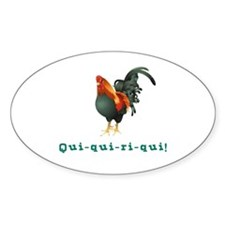 El Gallo Oval Decal