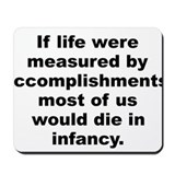 Funny A p gouthey quotation Mousepad