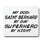 Saint Bernard Superhero Mousepad