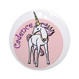 Cadence Unicorn Ornament (Round)