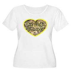 Rich In Love Women's Plus Size Scoop Neck T-Shirt