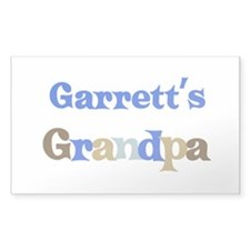 Garrett's Grandpa Rectangle Decal