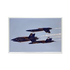 Blue Angels in Flight Rectangle Magnet (10 pack)