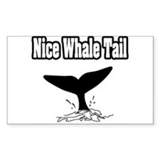 """""""Nice Whale Tail"""" Rectangle Decal"""