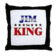 JIM for king Throw Pillow
