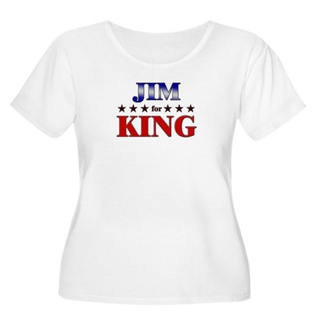 JIM for king Women's Plus Size Scoop Neck T-Shirt