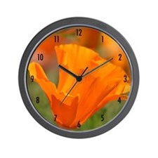 California Poppy Wall Clock