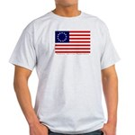 Grey Betsy Ross Flag T-Shirt