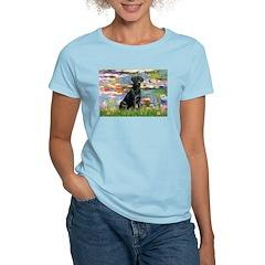 Lilies (#2) & Black Lab Women's Light T-Shirt