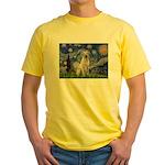 Starry Night Yellow Lab Yellow T-Shirt