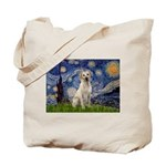 Starry Night Yellow Lab Tote Bag