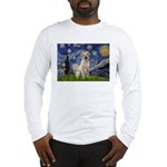 Starry Night Yellow Lab Long Sleeve T-Shirt