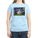 Starry Night Yellow Lab Women's Light T-Shirt