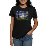 Starry Night Yellow Lab Women's Dark T-Shirt