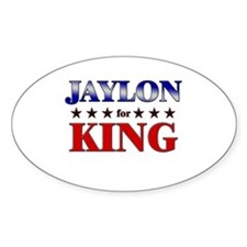 JAYLON for king Oval Decal