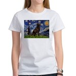 Starry Chocolate Lab Women's T-Shirt