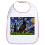 Starry Chocolate Lab Bib