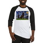 Starry Chocolate Lab Baseball Jersey