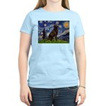 Starry Chocolate Lab Women's Light T-Shirt