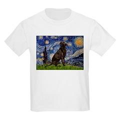 Starry Chocolate Lab Kids Light T-Shirt