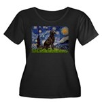 Starry Chocolate Lab Women's Plus Size Scoop Neck