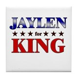 JAYLEN for king Tile Coaster