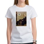 Mom's Chocolate Lab Women's T-Shirt