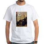 Mom's Chocolate Lab White T-Shirt
