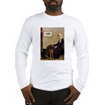 Mom's Chocolate Lab Long Sleeve T-Shirt